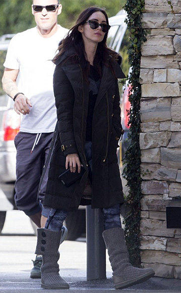 Express Camo Grid Print EXP Core Compression Legging as seen on Megan Fox