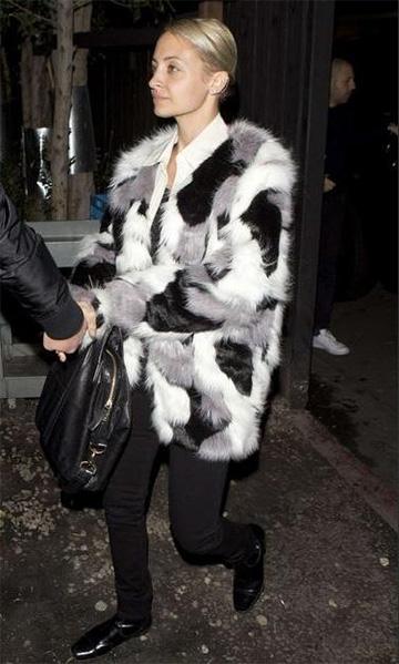 Storets Wanderlust Faux Fur Coat as seen on Nicole Richie