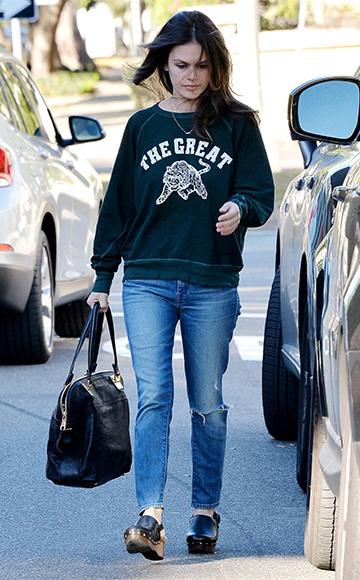 Mother High Waisted Looker Crop Jeans as seen on Rachel Bilson