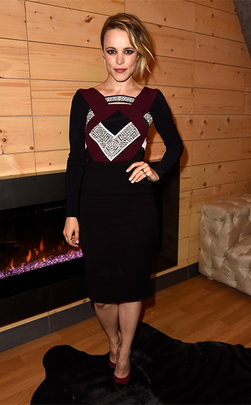 Roland Mouret Geometric Colorblock Shapur Dress as seen on Rachel McAdams