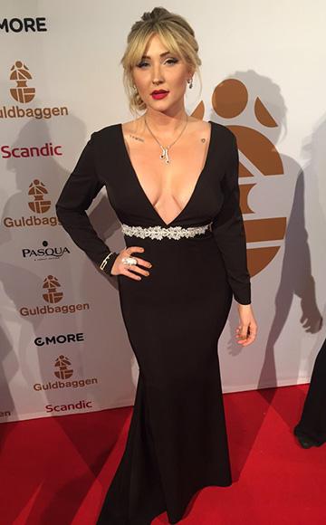 Debbie Carroll Bespoke Deep V Dress as seen on Taylor-Ann Hasselhoff