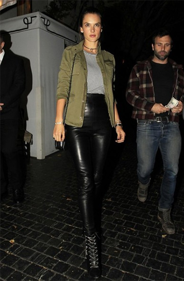 Giuseppe Zanotti Olinda Lace-Up Stiletto Ankle Booties as seen on Alessandra Ambrosio