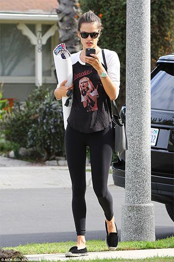Lauren Moshi Blondie Boyfriend Raglan Tee as seen on Alessandra Ambrosio