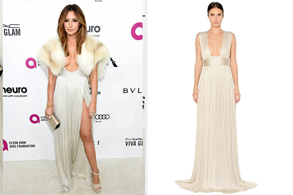 Maria Lucia Hohan Rita Pleated Silk Tulle Gown as seen on Ashley Tisdale