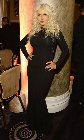 Emilio Pucci eyelet lace-up gown as seen on Christina Aguilera