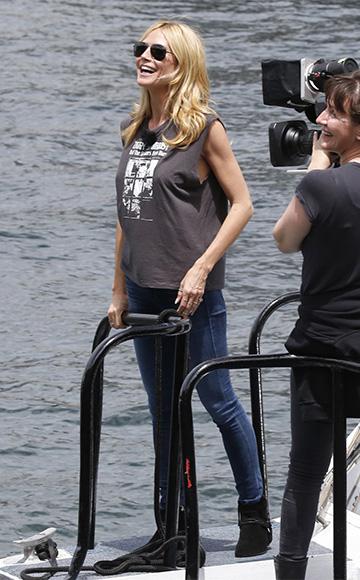 R13 Ziggy Stardust T-shirt as seen on Heidi Klum