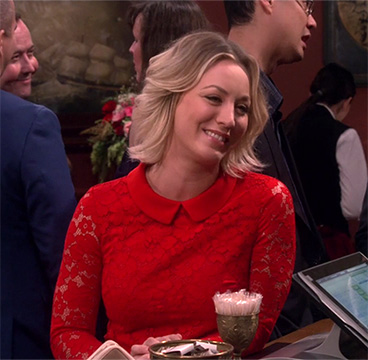 Ted Baker Ameera Lace Dress as seen on Kaley Cuoco as Penny