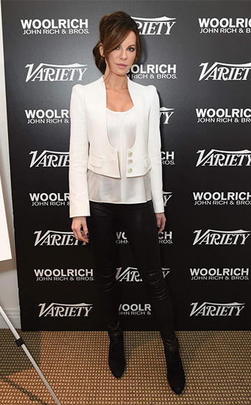 Chloe Crepe Sable Cropped Jacket as seen on Kate Beckinsale