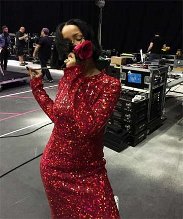 Nina Ricci Red Sequin Dress as seen on Rihanna