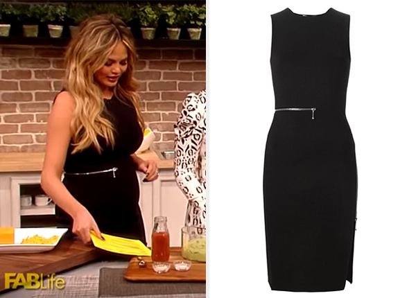 Chrissy Teigen Alexander Wang Zip Detailed Dress on FABLife Show