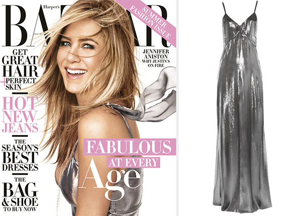 Jennifer Aniston x Harper's Bazaar April 2016 Saint Laurent Dress
