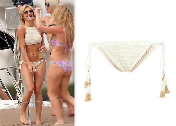 She Made Me Crochet Tie Side Bikini Bottom as seen on Julianne Hough