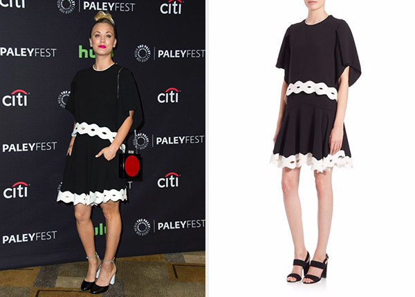 Jonathan Simkhai Scalloped-Trim Top + Skirt as seen on Kaley Cuoco