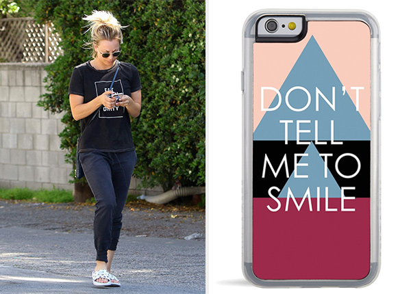 Kaley Cuoco Zero Gravity Don't Tell Me To Smile iPhone Case