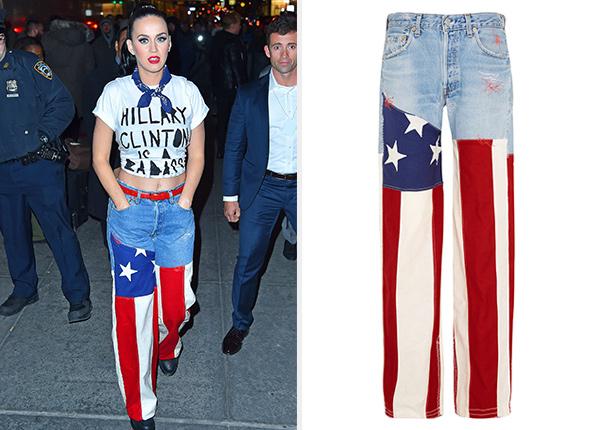Ronald Van Der Kemp J.M Guys Patchwork Boyfriend Jeans as seen on Katy Perry