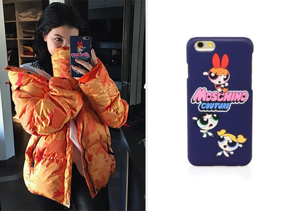 Moschino Power Puff Girls iPhone Case as seen on Kylie Jenner Instagram