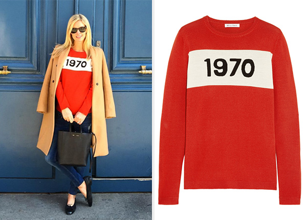 Bella Freud 1970 Sweater as seen on Nicky Hilton