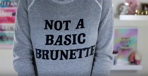 Nicole Guerriero Not A Basic Brunette Sweatshirt by Bow & Drape