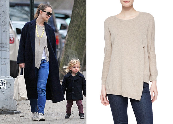 Inhabit Poncho Pullover as seen on Olivia Wilde