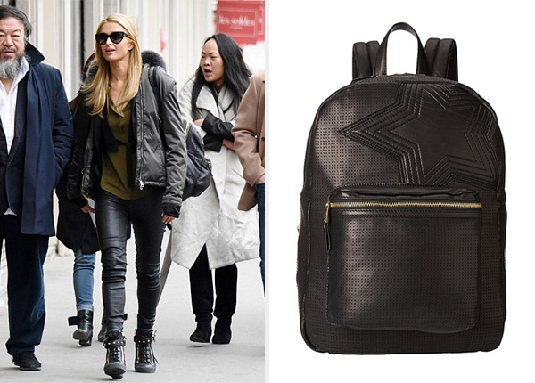 Ash Danica Star Large Backpack as seen on Paris Hilton