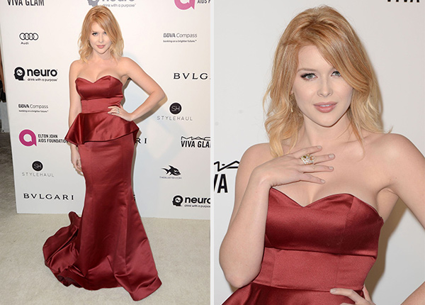 Renee Olstead 2016 Elton John Oscar Viewing Party Gown