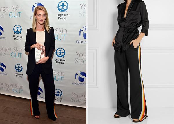 Chloe Paneled Jersey Track Pants as seen on Rosie Huntington-Whiteley