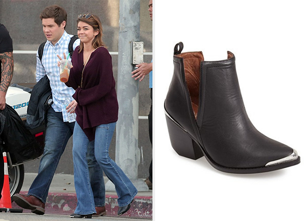 Jeffrey Campbell Cromwell Cutout Western Boots as seen on Sarah Hyland