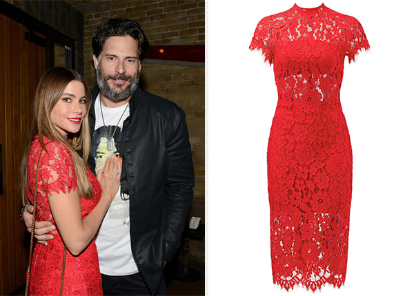 Alexis Red Lace Leona Dress as seen on Sofia Vergara