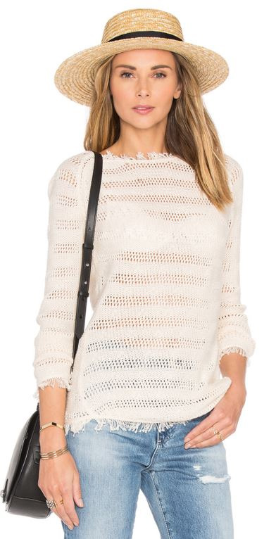 Inhabit Fringe Stripe Sweater