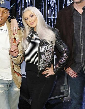 R13 Distressed Shrunken Sweater as seen on Christina Aguilera on The Voice Season 10