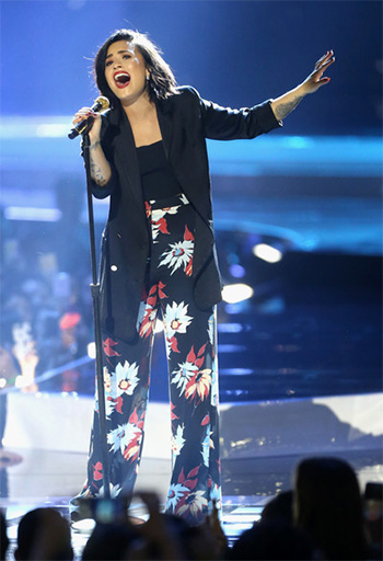 A.L.C. Ali Cropped Top as seen on Demi Lovato