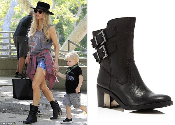 Fergie steps out in Fergie Footwear Wistful Moto Short Boots
