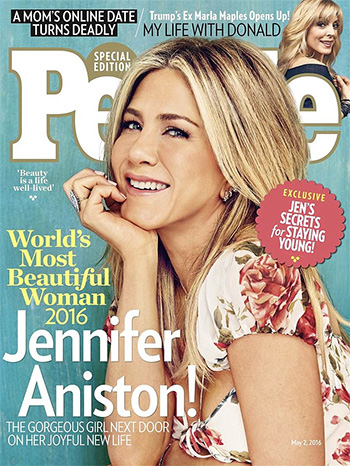 Saint Laurent Floral-print silk-georgette gown as seen on Jennifer Aniston People magazine Worlds Most Beautiful 2016
