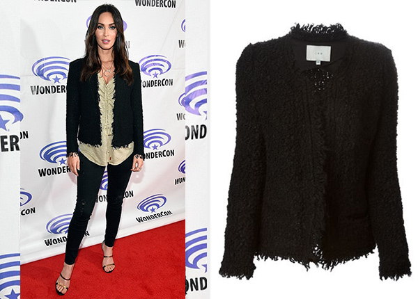 Megan Fox IRO Coffey Jacket at WonderCon 2016