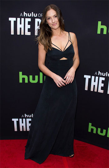 L'Agence Elsa Cutout Maxi Dress as seen on Minka Kelly