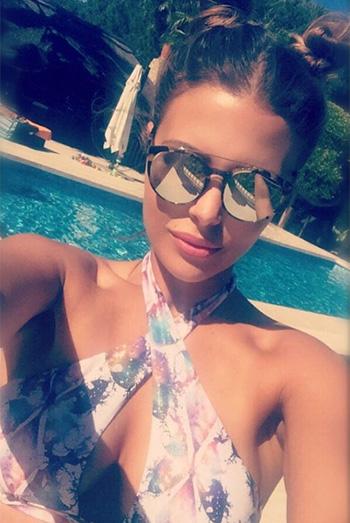 Chloe Lewis x Little Mistress Frosted Butterfly Print Multi Strap Front Bikini