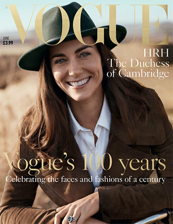 Burberry Suede Revere Collar Coat as seen on Kate Middleton for Vogue UK 2016