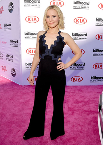 Jonathan Simkhai Scallop Trim Jumper as seen on Kristen Bell at the 2016 Billboard Music Awards