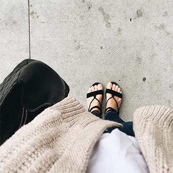Kristin Cavallari Belle Black Kid Suede Sandals