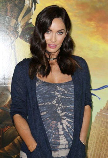 Inhabit Ink Linen Placket Cardi as seen on Megan Fox