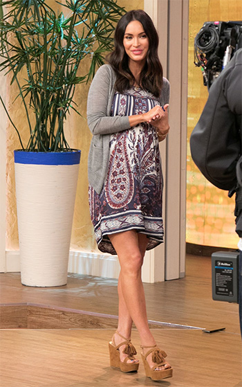 Isabel Marant Étoile Paisley Trani Dress as seen on Megan Fox on Despierta America in Miami