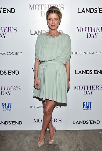 Nicky Hilton in Valentino Embellished Silk Mini Dress at the NYC Mother's Day premiere on April 28, 2016