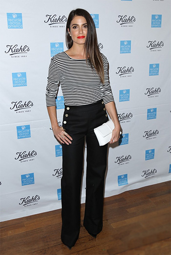 Max Mara Bianca Striped Top as seen on Nikki Reed at Earth Day event 2016