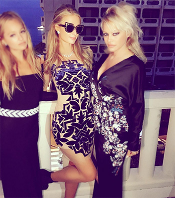 For Love & Lemons Vienna Mini Dress as seen on Paris Hilton in Cannes