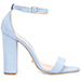 Schutz Enida Jean Blue Suede Sandals