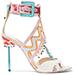 Sophia Webster Nereida Bead Fringe Embroidered Sandals