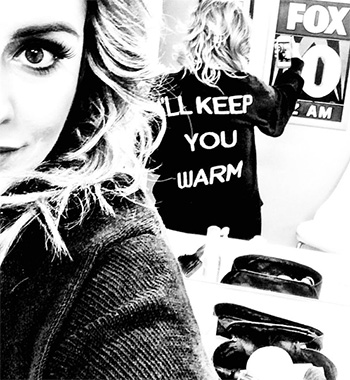 Wildfox Couture I'll Keep You Warm Bonfire Cardi as seen on Kinsey Schofield Instagram.