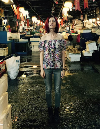 Misa Los Angeles Inez Off Shoulder Top as seen on Lily Collins Instagram.