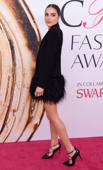 Kate Spade Priscilla Stiletto Heels as seen on Olivia Culpo at the 2016 CFDA Fashion Awards on June 6, 2016 in New York City.
