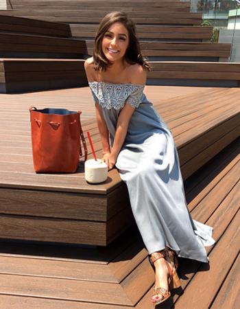 Self-Portrait Lace Shoulder Maxi Dress as seen on Olivia Culpo Instagram - June 2016